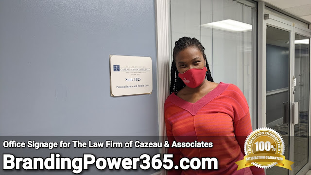 Office Signage for The Law Firm of Cazeau and Associates in North Miami Beach - BrandingPower365.com