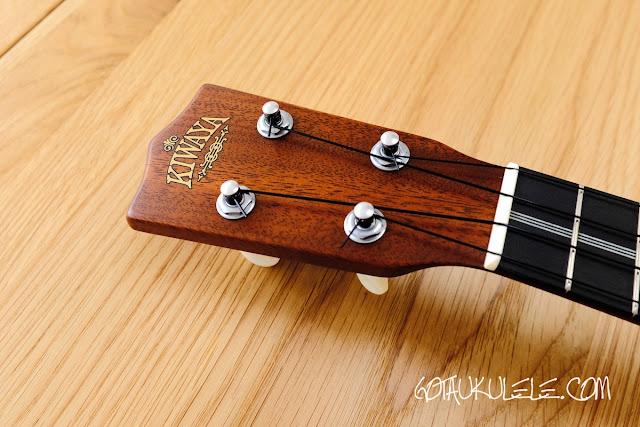 Kiwaya KTS-7 Soprano ukulele headstock