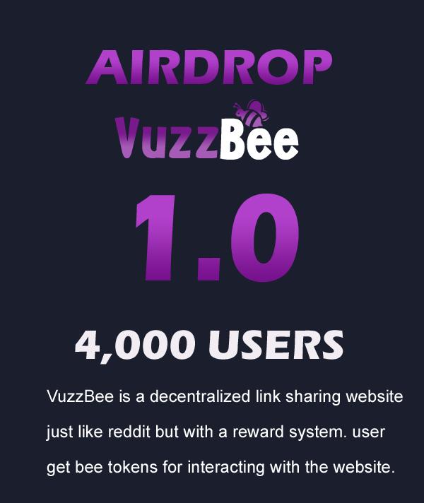 Vuzzbee Cryptocurrency Airdrop Alert | Free Crypto Aidrop