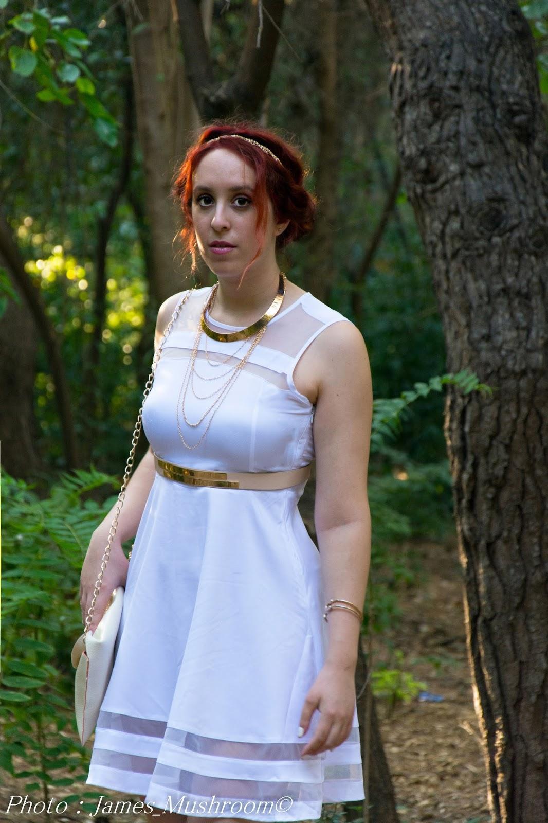 fashion, redhead,hot, sexy, white , dress, romwe, review, dresslink, online shopping, H&M, Anna Keni, Anna, blogger, model, spotlights on the redhead, princess, fuck it, fuck it Im gonna be a princess