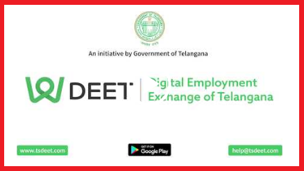 Telangana Government Launched another Digital Flat form for Job seekers in the State. It will be better way to register Online for unemployed youth in Telangana. Job-seekers and employers can instantly connect with each other for job requirements. Job aspirants may Submit their Details through this DEET App for job opportunities in the state and country as well. deet-digital-employment-exchange-of-telangana-app-registration-download