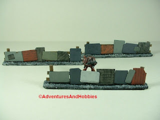Urban 25-28mm war game terrain battlefield barricade made from scrap metal - front view