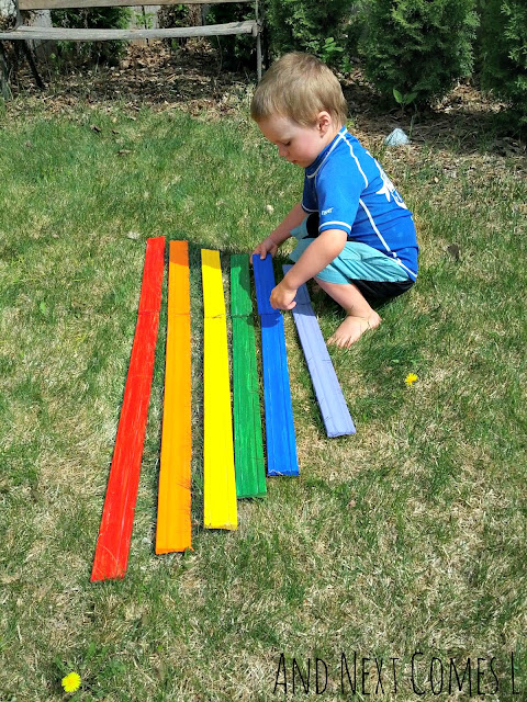 Making a giant xylophone for kids out of recycled materials