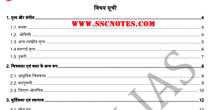 Culture Classroom Study Material in Hindi PDF by Vision IAS PT 365