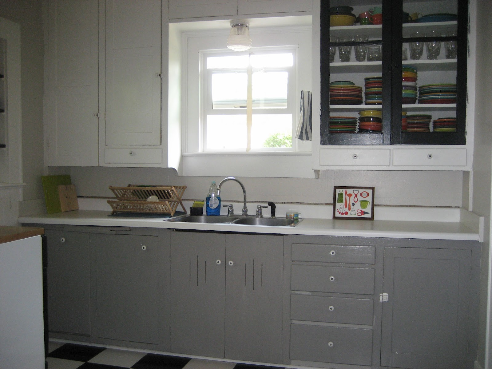 Painted Gray Kitchen Cabinets Lowes Refacing Cleaning