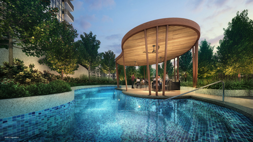 Sengkang Grand Residences - Pool Side BBQ Pavilion