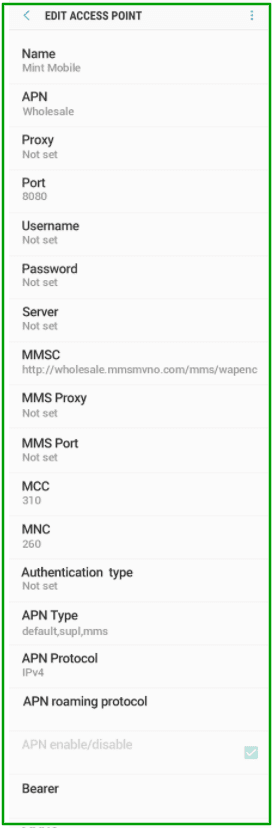 APN Settings for Mint Mobile