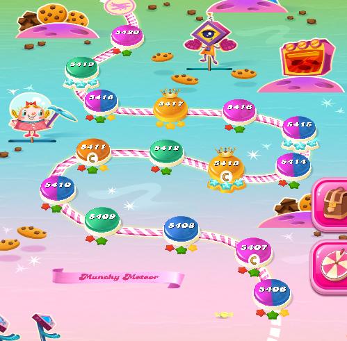 Candy Crush Saga level 5406-5420
