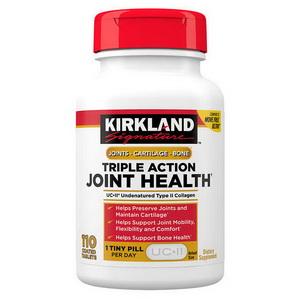 Viên Uống Hỗ Trợ Xương Khớp Kirkland Triple Action Hàng Xách Tay Mỹ