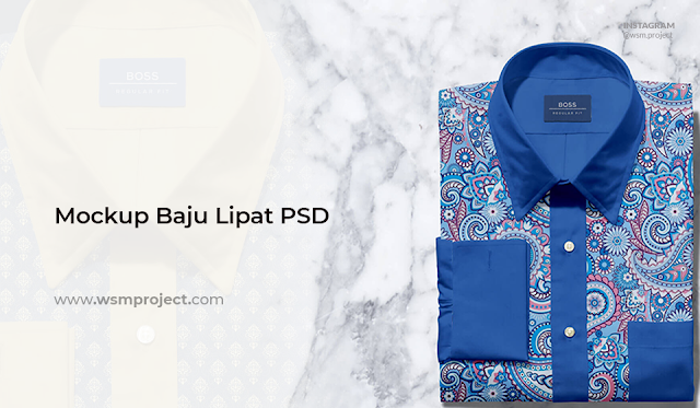 Mockup-Baju-Formal-di-Lipat-Format PSD