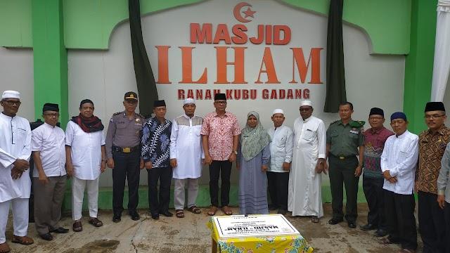 Riza Falepi Resmikan Masjid Ilham Ranah Kubu Gadang