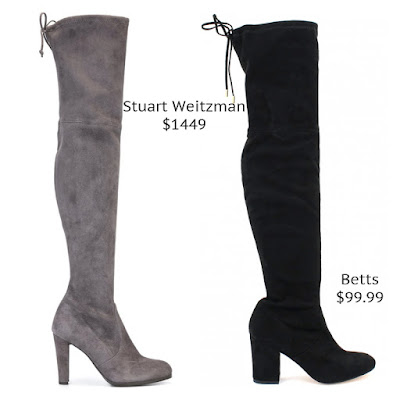 Stuart Weitzman Highlight Boots Betts Bold Over The Knee Boots look for less budget fashion high end high street designer dupe