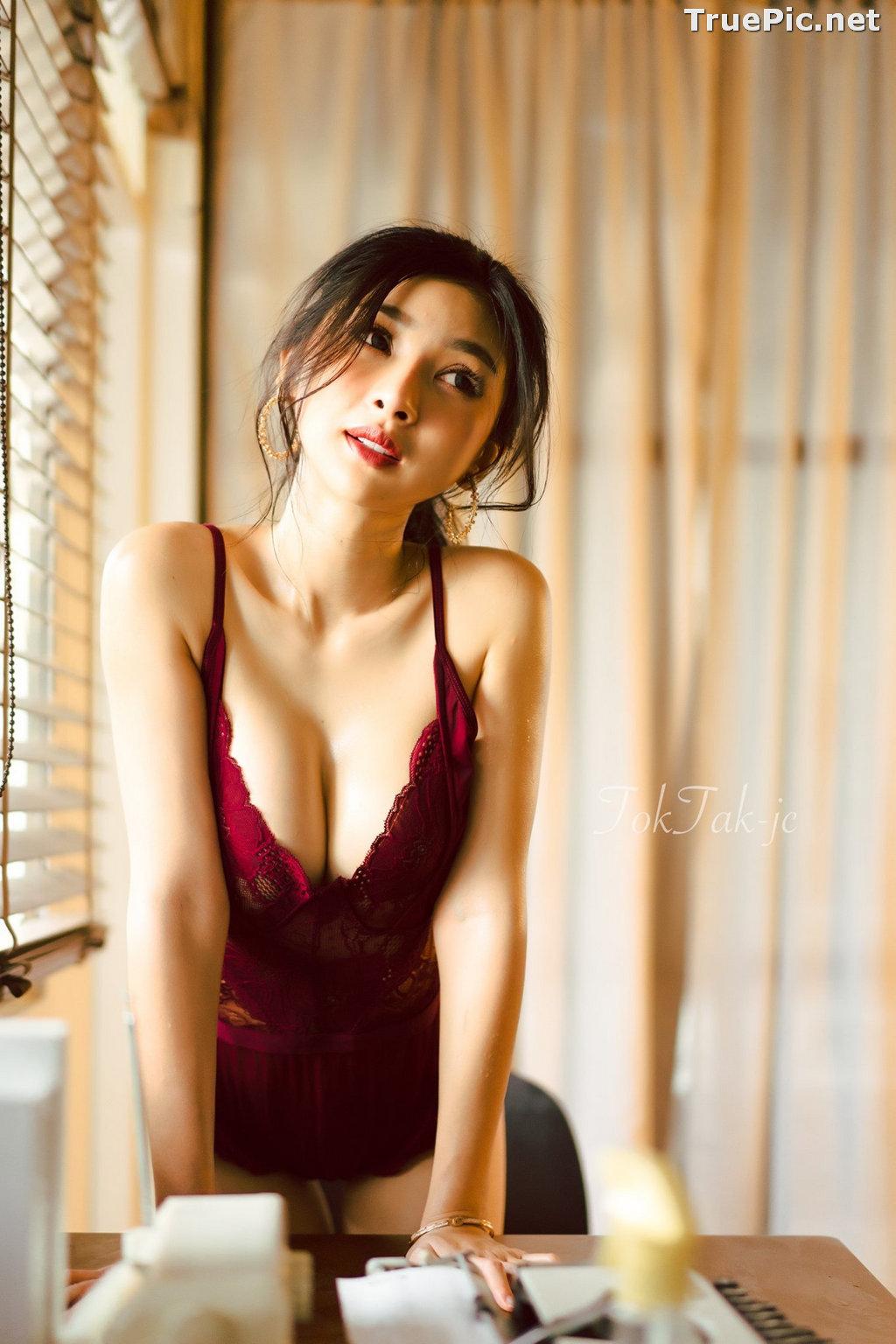 Image Thailand Model - Pattamaporn Keawkum - Red Plum Lingerie - TruePic.net - Picture-3