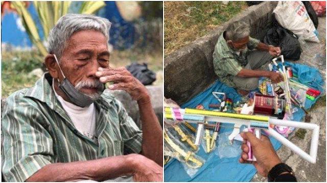 Viral Seorang Pejuang Kemerdekaan Sekarang Berjualan Mainan di Pinggir Jalan, Begini Ceritanya
