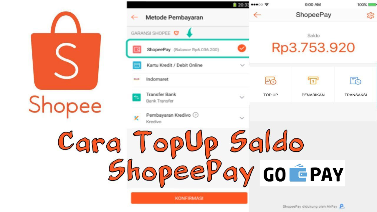Cara Top Up ShopeePay Lewat Gopay