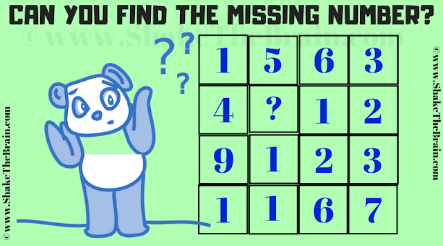 In this Missing Number Maths Picture Puzzle, your challenge is to find the missing number which replaces the question mark.