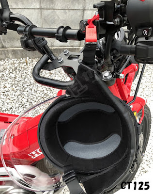 ホンダ CT125ハンターカブ ヘルメットホルダー