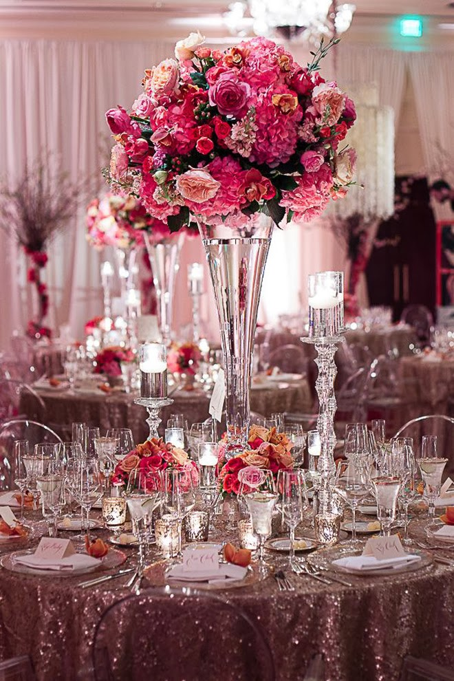 12 stunning wedding centerpieces part 21 belle the - Manteles para bodas ...