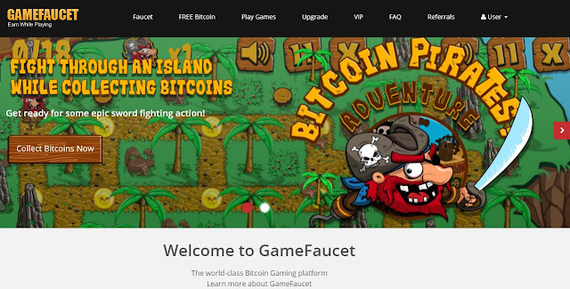 GameFaucet - Earn Free Bitcoin