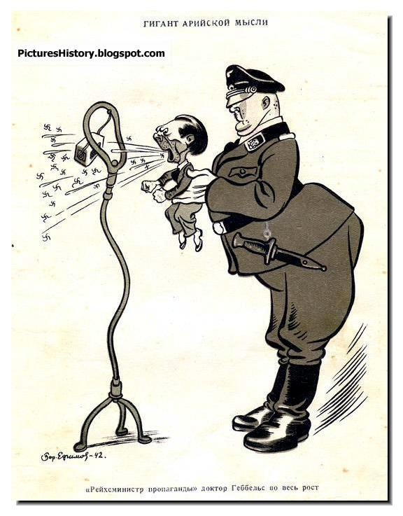 ww2 Russian Cartoonist BORIS YEFIMOV Goebbela