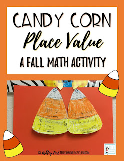 fall Candy Corn Place Value Math 3-digit