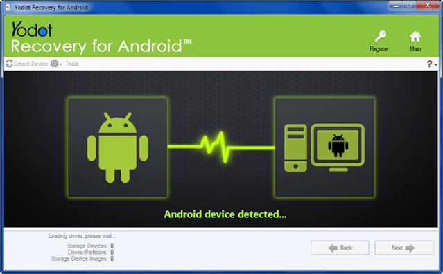 Instal Yodot Recovery untuk Android di PC & Hubungkan ponsel cerdas kamu ke PC
