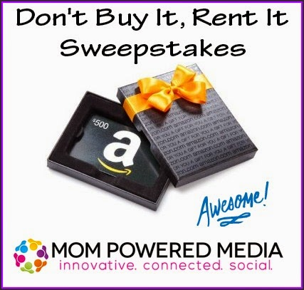 Enter the Don't Buy It, Rent It Sweepstakes for $500 Amazon GC. Ends 8/7.