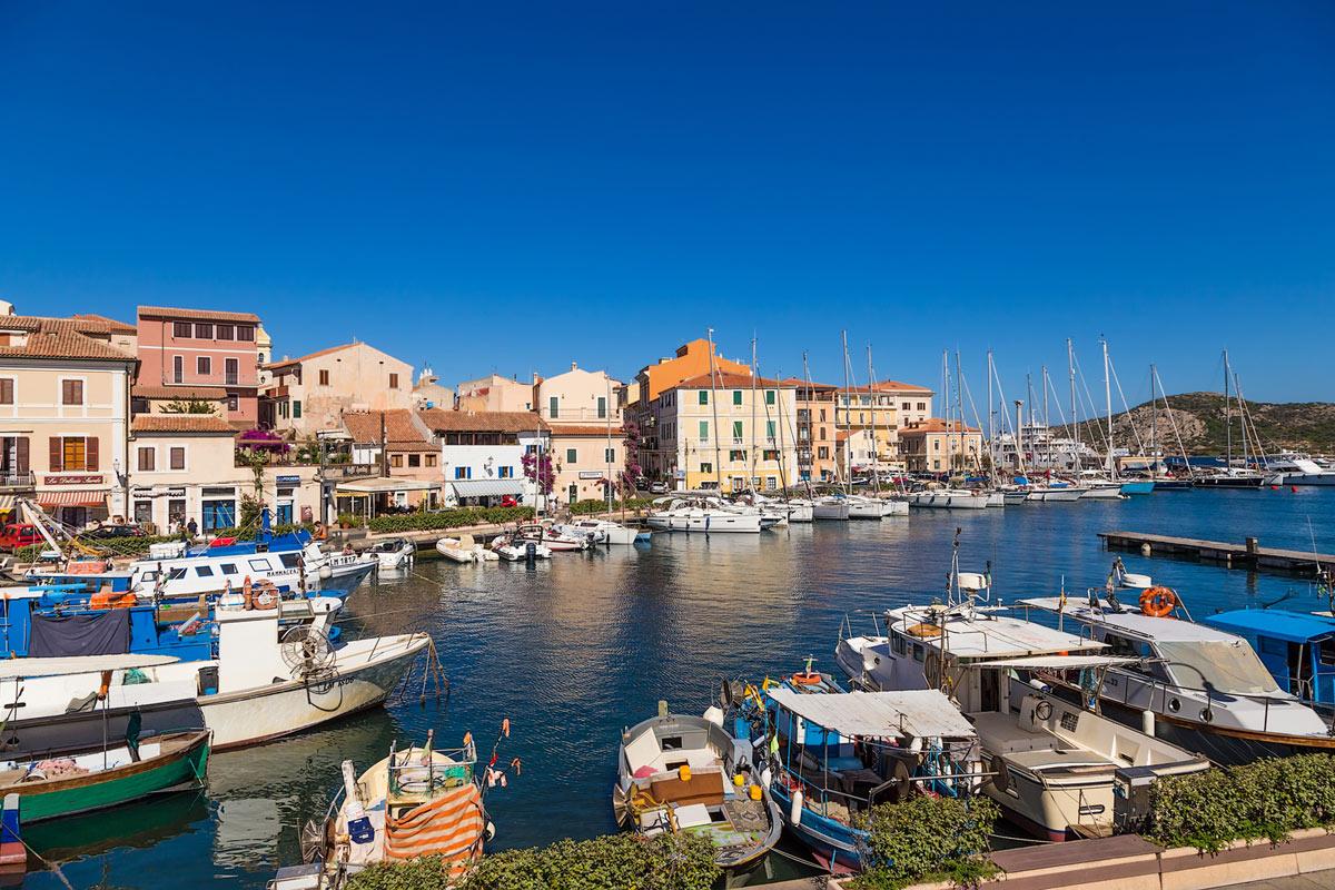 Isola La Maddalena in Sardegna