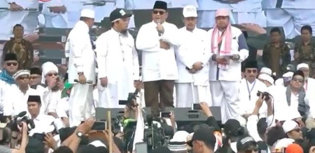 Prabowo Pidato di Panggung Reuni 212: Sebagai Calon Presiden Saya Harus…