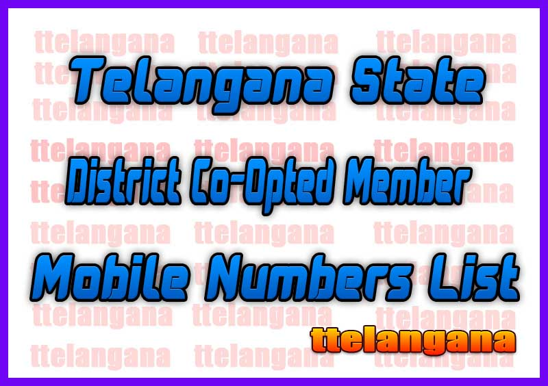 Nalgonda District Co-Opted Member Mobile Numbers List in Telangana State