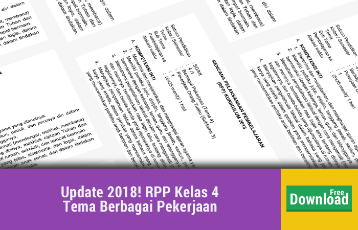 Update Kamis 25 Januari 2018 Pembelajaran 4 Tema 4 Subtema 3 Pekerjaan Orang Tuaku