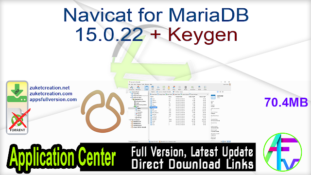 Navicat for MariaDB 15.0.22 + Keygen