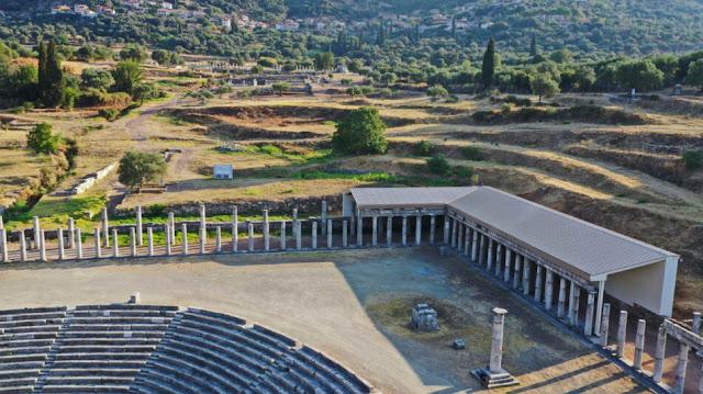 Αρχαία Μεσσήνη: Εγκαινιάζεται το νέο στέγαστρο στη βορειοανατολική στοά