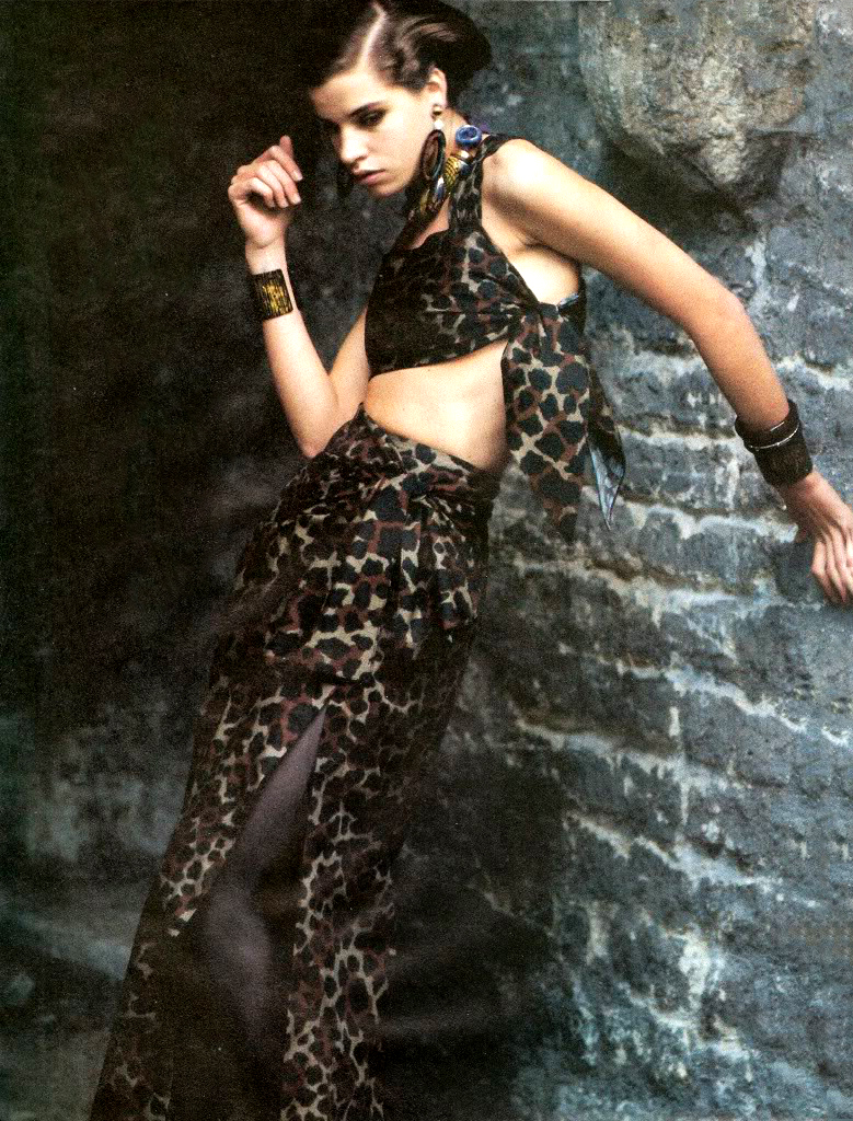 Yves Saint Laurent in Vogue US January 1984 via www.fashionedbylove.co.uk