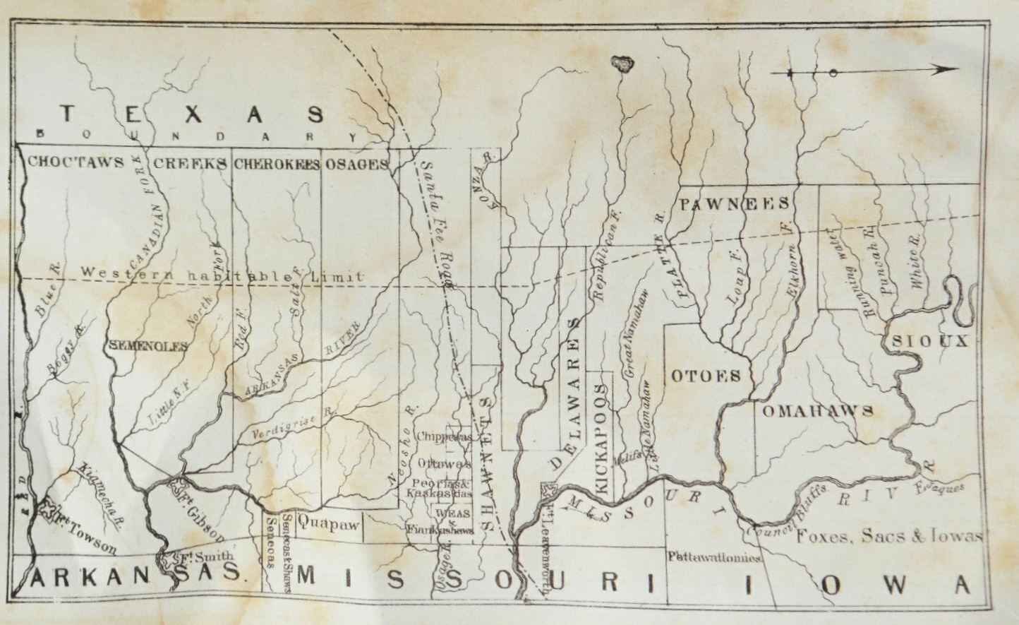 in february 1844 a fairly obscure magazine the united states magazine and democratic review issued a map entitled the indian territory