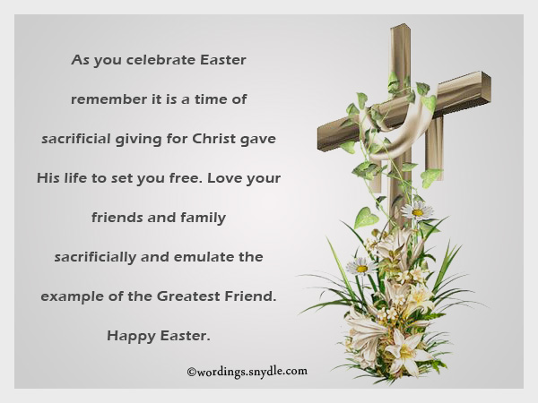 Happy Easter 2017 Greetings Cards Messages For Friends Family – Easter Greeting Card Messages