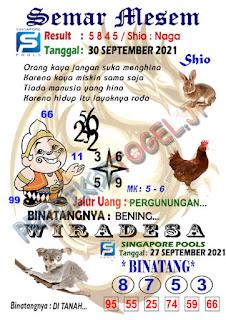 Syair Semar Mesem SGP Kamis 30-September-2021