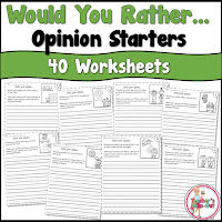 Would You Rather Opinion Starters has 40 Prompts