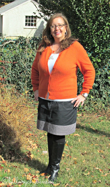What I wore - a great fall skirt
