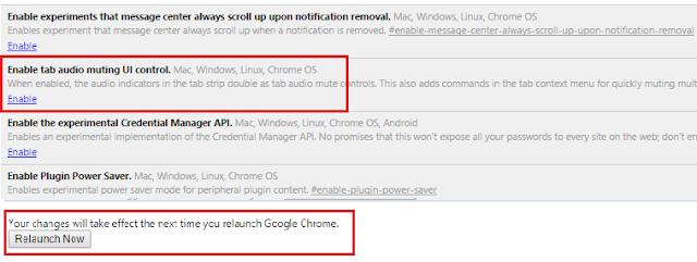 إعدادات قطع الصوت عن تبويبة في متصفح جوجل كروم