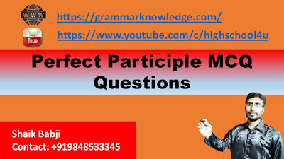 Perfect Participle MCQ Questions