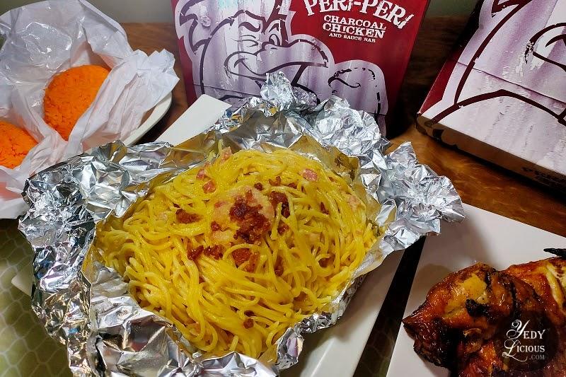 Pasta Carbonara at Peri-Peri Charcoal Chicken and Grill Philippines
