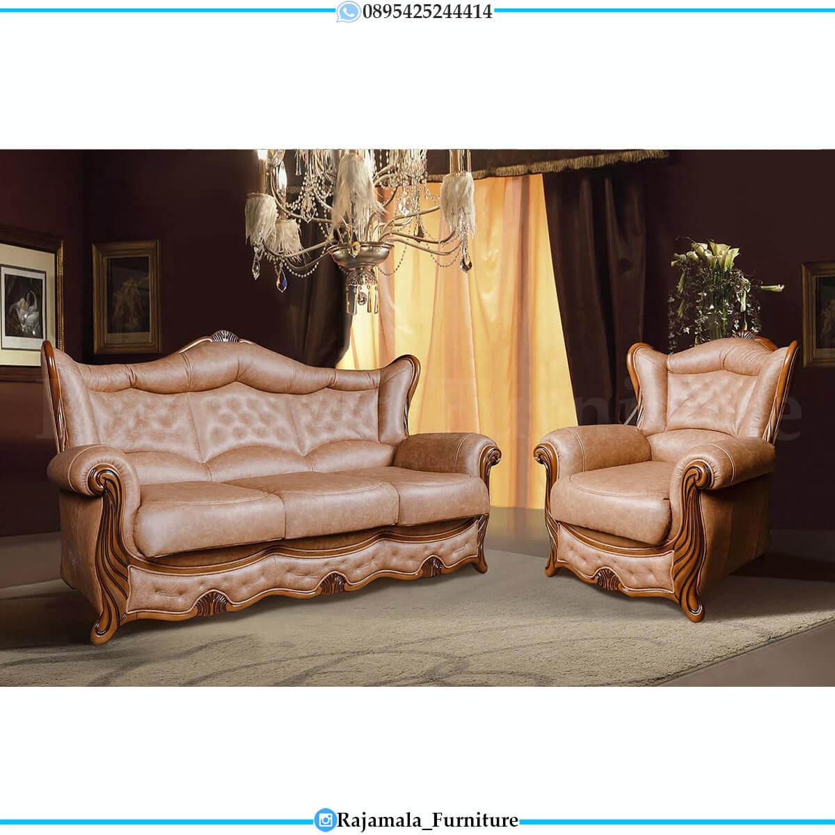 Sofa Tamu Mewah Terbaru Luxury Oscar Leather Great Quality RM-0751