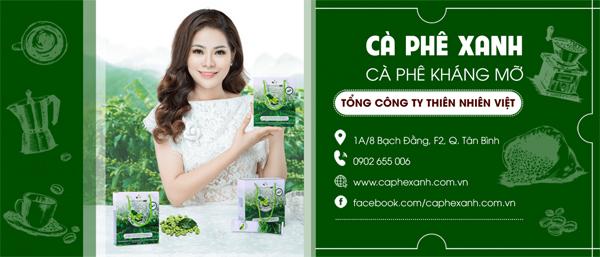 Cà phê xanh Thiên Nhiên Việt giúp giảm cân kháng mỡ
