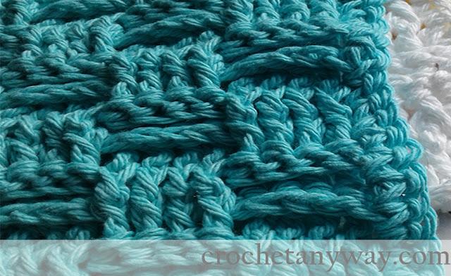 basket weave dishcloth