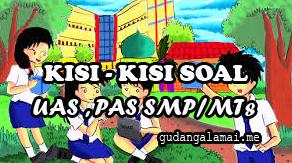 Latihan Soal UTS/PTS Bahasa Indonesia SMP/MTs Kelas 7 Semester 2 Kurikulum 2013 Tahun 2021