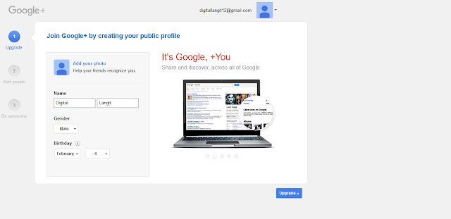 Profil Google Plus +