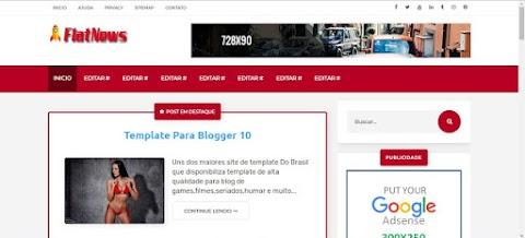 FlatNews Responsive Magazine Blogger Template