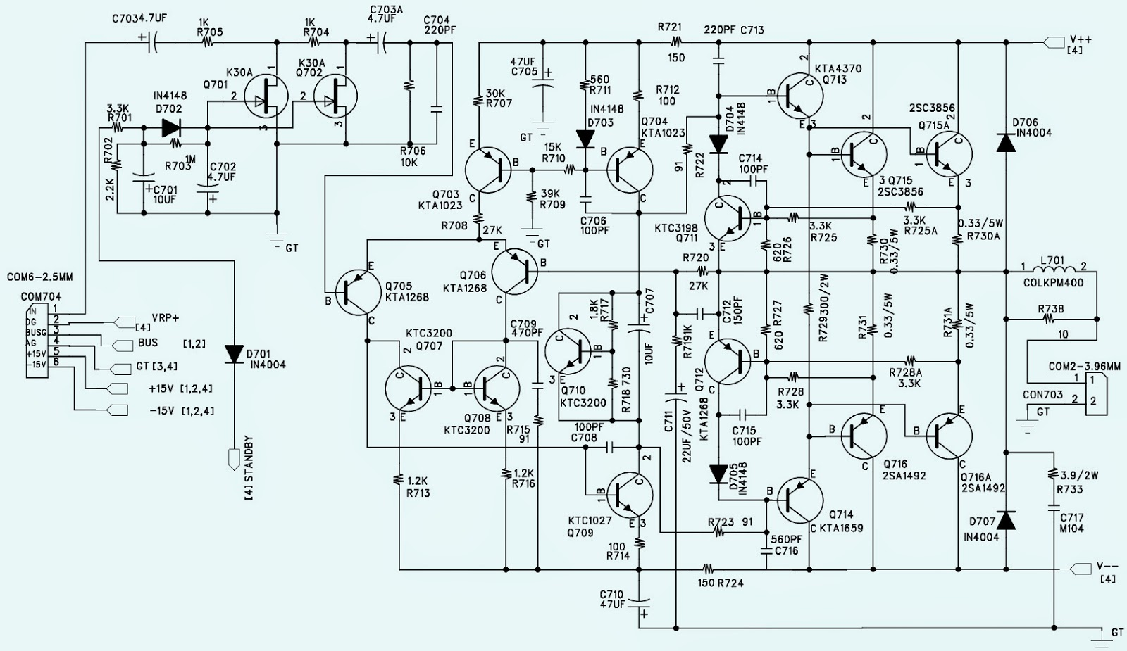 Audio Mixer Circuit Diagram Schematic Auto Electrical Ultrasimple Monoin Panning Wharfedale Pro U2013 Pm
