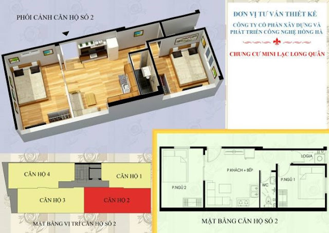mặt bằng căn hộ 02 chung cư mini nghĩa đô
